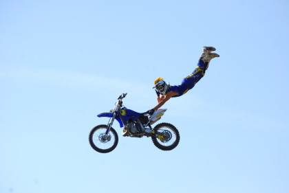 Our riders perform many different stunts including superman seat grabs and backflips.
